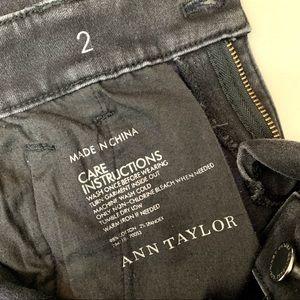 Ann Taylor Jeans - Ann Taylor Womens Black Denim Zipper Skinny Jeans